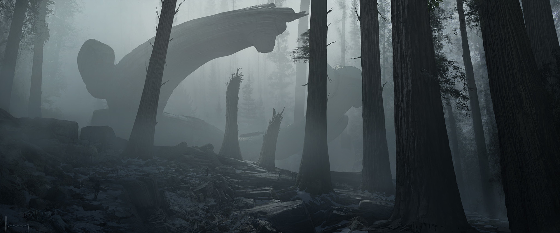 see the beautiful and dark concept art for alien covenant